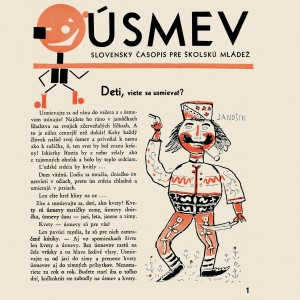 Cover and pages of the Úsmev magazine