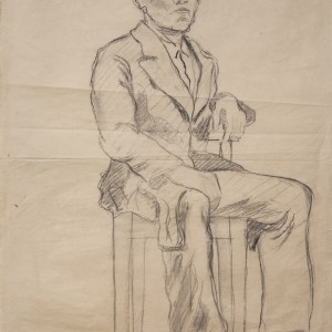 Study of a boy sitting on a chair