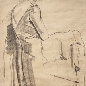 Study of a sitting female figure