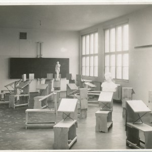 Drawing room in the building of Vocational Schools at Vazovova St.