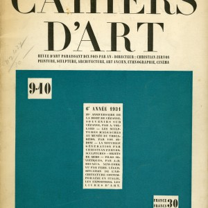 Cahiers D´Art magazine cover