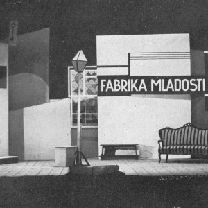 A. Tolstoy: Youth Factory. Stage design