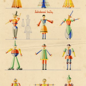 Lathe toys — figures, drawing coloured designs