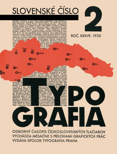 Typografia, Slovak issue, i. 37, no. 2, 1930