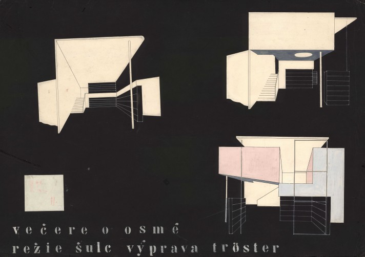 G. S. Kaufman – E. Ferberová: Dinner At Eight, SND, Bratislava - stage design