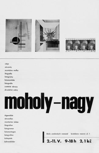 Moholy-Nagy. Poster to the exhibition at the School ŠUR
