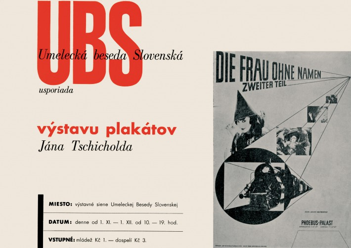 UBS Slovak Art Forum Organising Poster Exhibition by Jan Tschichold